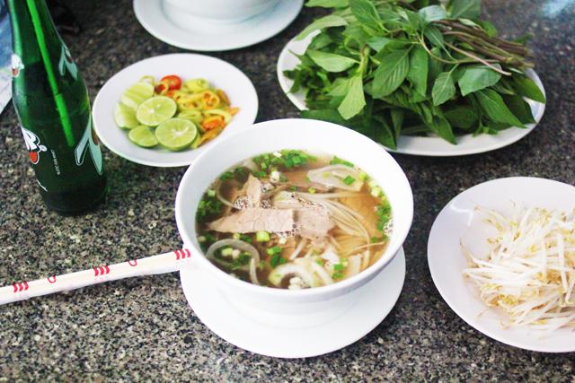 Pho soup in Vietnam