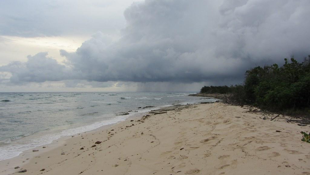 Cuba, Beach. Rain.