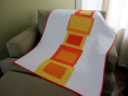 Homage to Josef, baby quilt