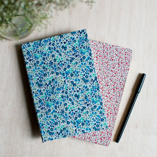 Diy Book Cover Easy ~ Diy floral fabric covered notebooks a pair spare