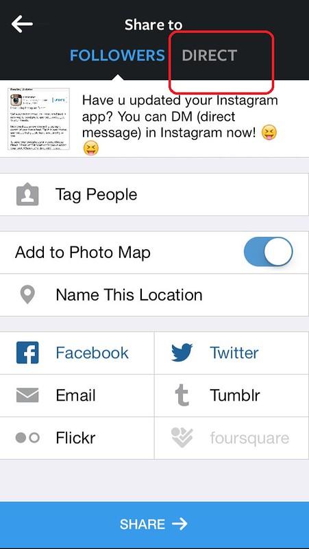 instagram direct 2