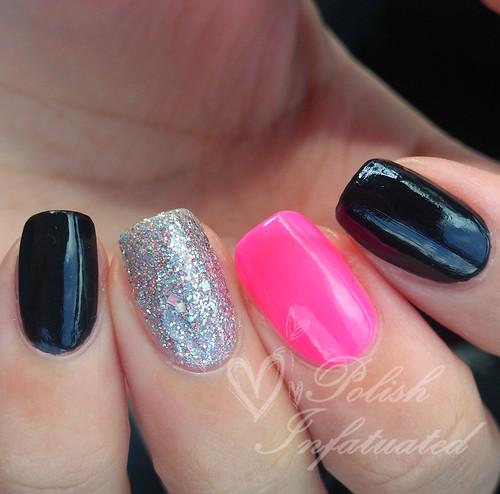 black, hot pink & glitter
