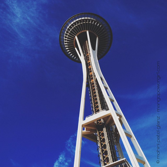 space needle & blue sky