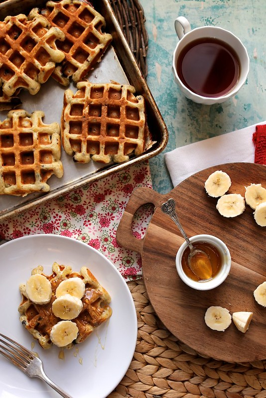 Buttermilk Chocolate Chip Waffles with Almond Butter,… Brown Sugar ...