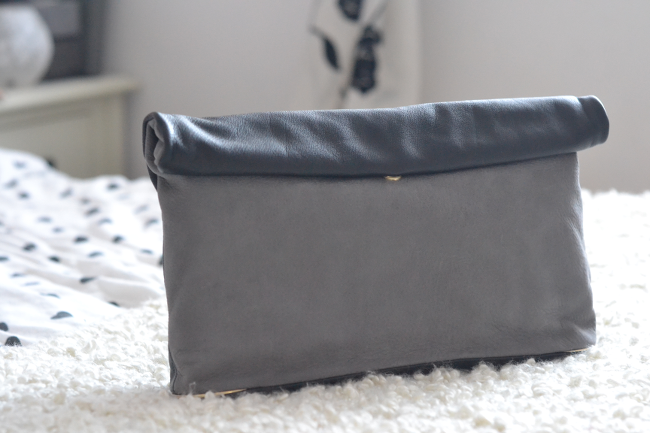 Daisybutter - UK Style and Fashion Blog: See by Chloe two-tone nubuck leather clutch, see by chloe review