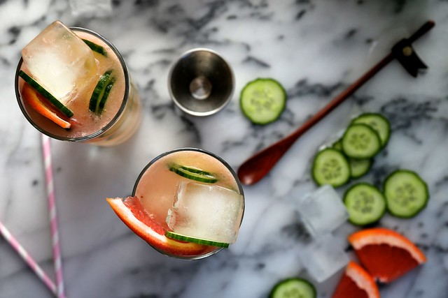 Bonkers Awesome Grapfruit Cucumber Gin Cocktails