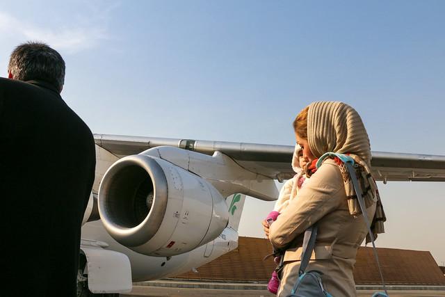 Boading to Mahan Air, Tehran to Shiraz