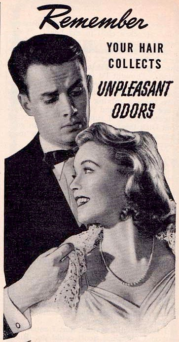 An ad warns women against unpleasant odors