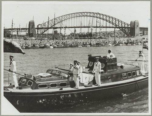 Queen Elizabeth II arriving for the Royal Visit, 1954, Farm Cove, Sydney