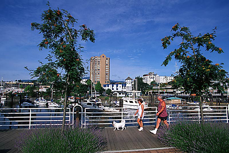 Walkway in Nanaimo, Vancouver Island, British Columbia, Canada