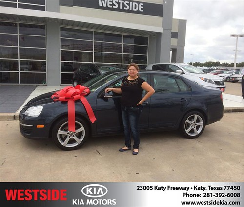 Thank you to Cristina Villegas on your new 2009 #Volkswagen #Jetta Sedan from Orlando Baez and everyone at Westside Kia! #NewCar by Westside KIA