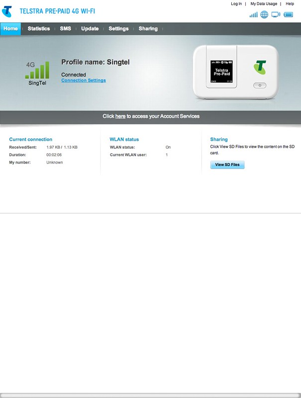 Huawei E5372 - Web UI