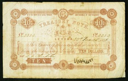 Fiji Treasury 10 Dollars
