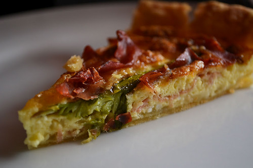 Asparagus, Brie and Prosciutto Tart