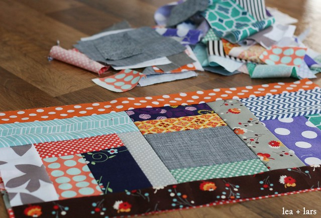 WIP scrappy patchwork