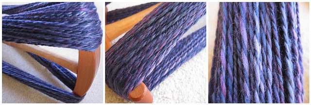 Purple merino worsted weight handpsun