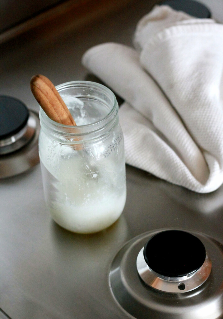 coconut oil on stove