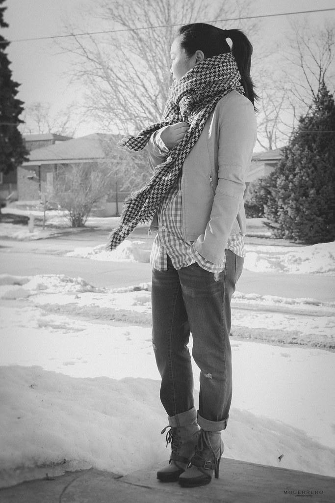 zara houndstooth scarf 03