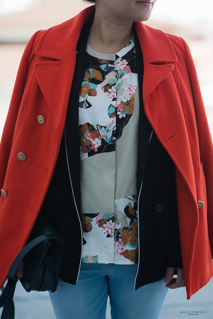 orange coat and floral blouse 01