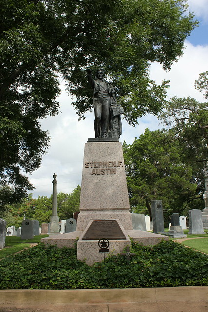 Stephen F. Austin Monument, Texas State Cemetery, Austin TX