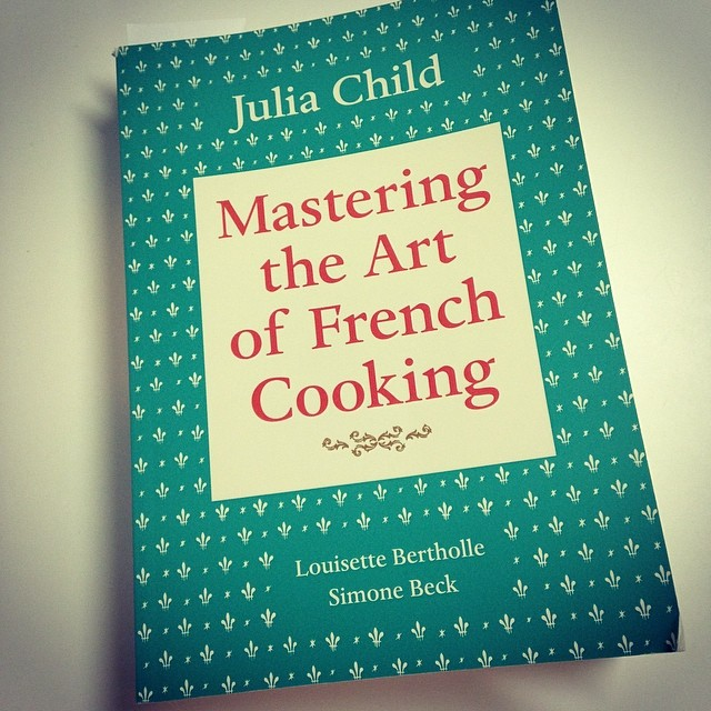 Dug out my cookbook from Julia Child. Making Normy and I her potato leek soup for dinner tomorrow or Potage Parmentier - mmmm I loooove leeks.