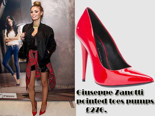 Red Giuseppe Zanotti pointed toes pumps