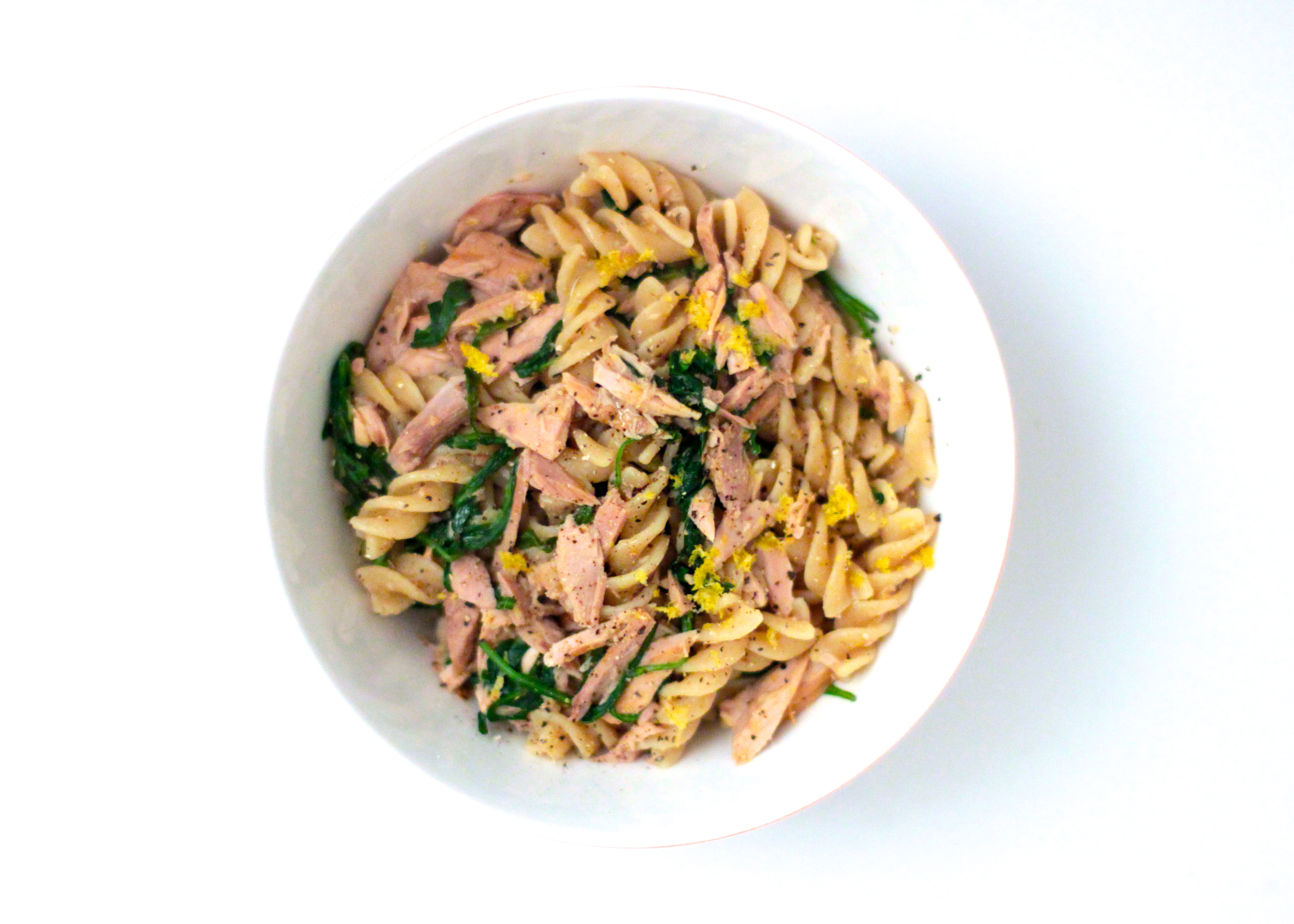 Pasta with Tuna, Lemon & Greens