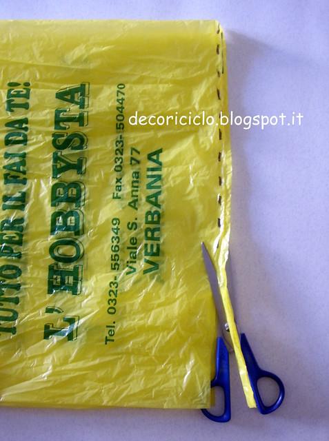 tutorial fettuccia da sacchetti di plastica 3