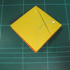 วิธีพับกระดาษเป็นรูปนกยูง (Origami Peacock - ピーコックの折り紙) 006