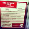 Hilarious #TheHipsterMove #FlatrateMoving #MTA #advertisement #Williamsburg #greenpoint #Bushwick #FortGreene #Brooklyn #NYC