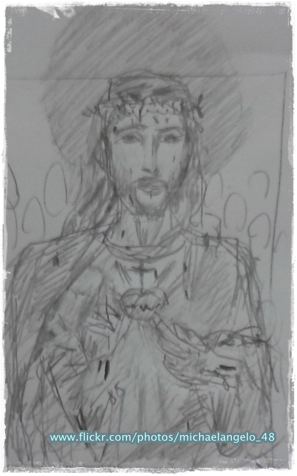 Jesus Loves Us A Sketch Christ Jesus Though He Was God Flickr