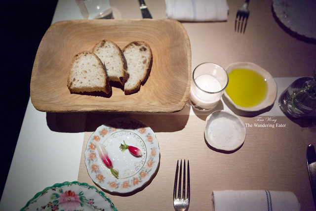 Bread and radishes