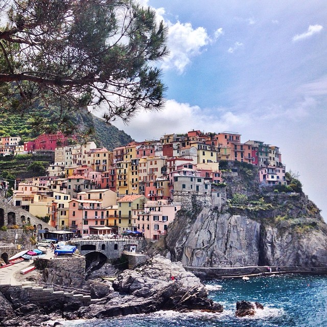 Finally here! #manarola #cinqueterre #italia