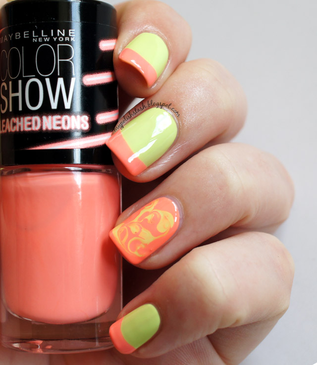 Maybelline Bleached Neons_French Manicure_2