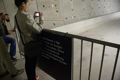 Meisje maakt foto van tunnel