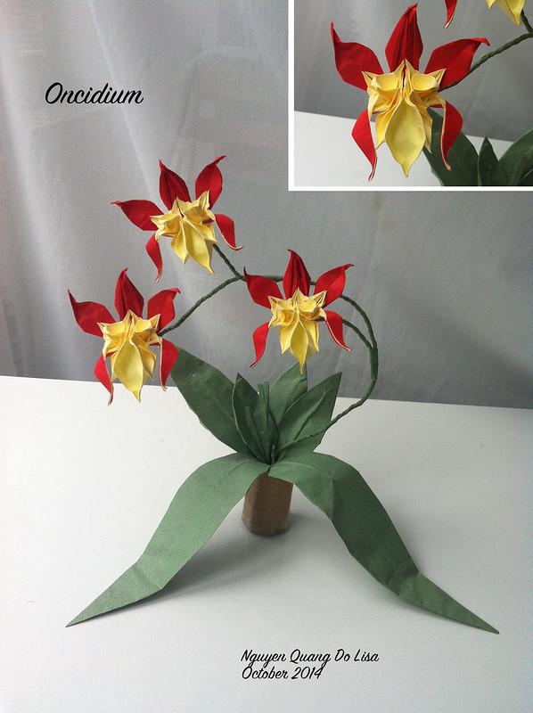 Origami Oncidium Orchid