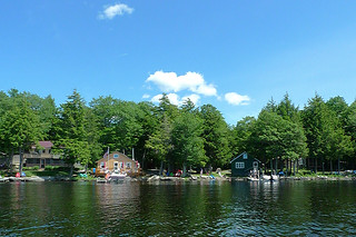 Maine - Lake Pushaw boat ride view 2