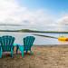 Plage de l'Auberge sur le Lac Témiscouata