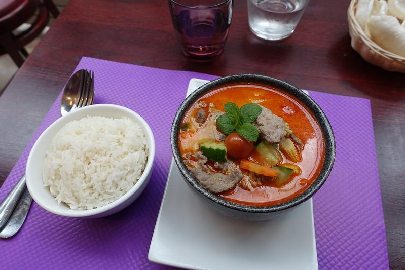 Beef massaman curry @ Saveurs d'asie Paris 15 @ Paris