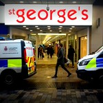 Police at St Georges in Preston