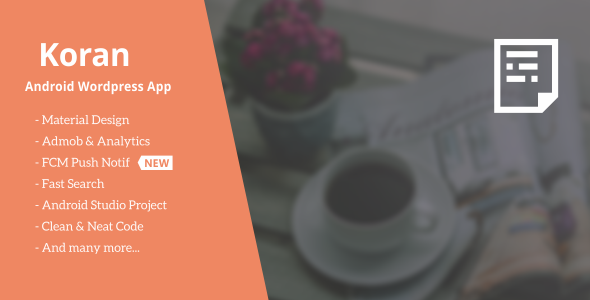 Koran - Wordpress App with Push Notification 2.0