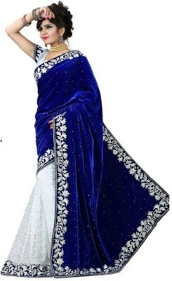 Vraj Enterprise Embriodered Fashion Velvet Sari Sarees on Shimply.com