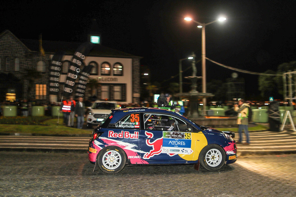 35 MOLINARO Tamara MAYRHOFFER Ursula Opel Adam R2 Action during the 2017 European Rally Championship ERC Azores Rally - Photo Jorge Cunha / DPPI