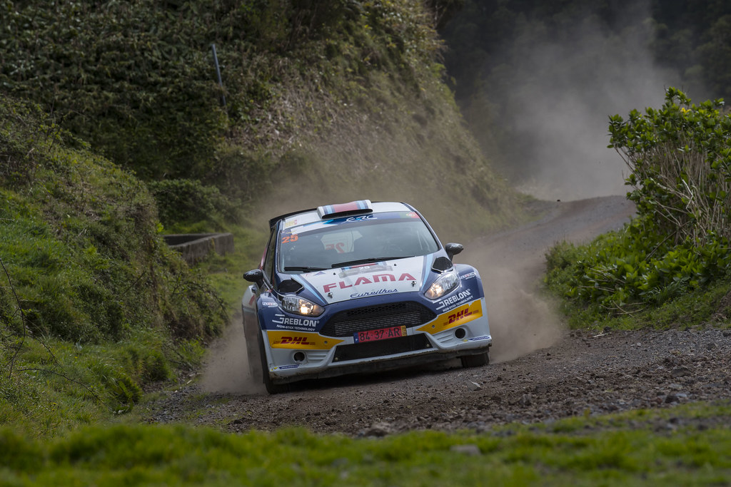 25 ALVES Joaquim RAMALHO Luis Ford fiesta R5 Action during the 2017 European Rally Championship ERC Azores rally,  from March 30  to April 1, at Ponta Delgada Portugal - Photo Gregory Lenormand / DPPI
