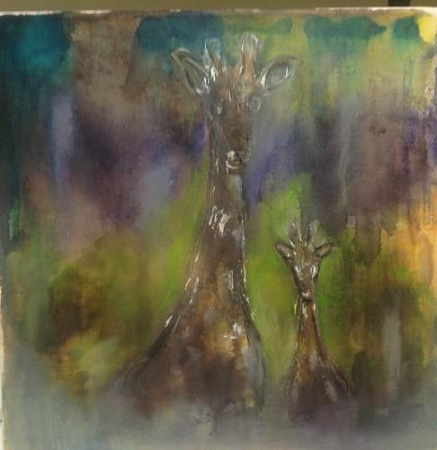 Giraffes in the Mist by wiggy81