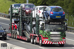 Scania P420 6x2 Car Transporter - KN62 RZE - Cara Andrea - Eddie Stobart - M1 J10 Luton - Steven Gray - IMG_9900