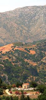 Obraz Lappa. cemetry mountains church graveyard sunshine photoshop exterior crete nikoncapturenx2
