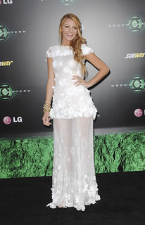 Blake Lively Sheer Dress Celebrity Style Women's Fashion