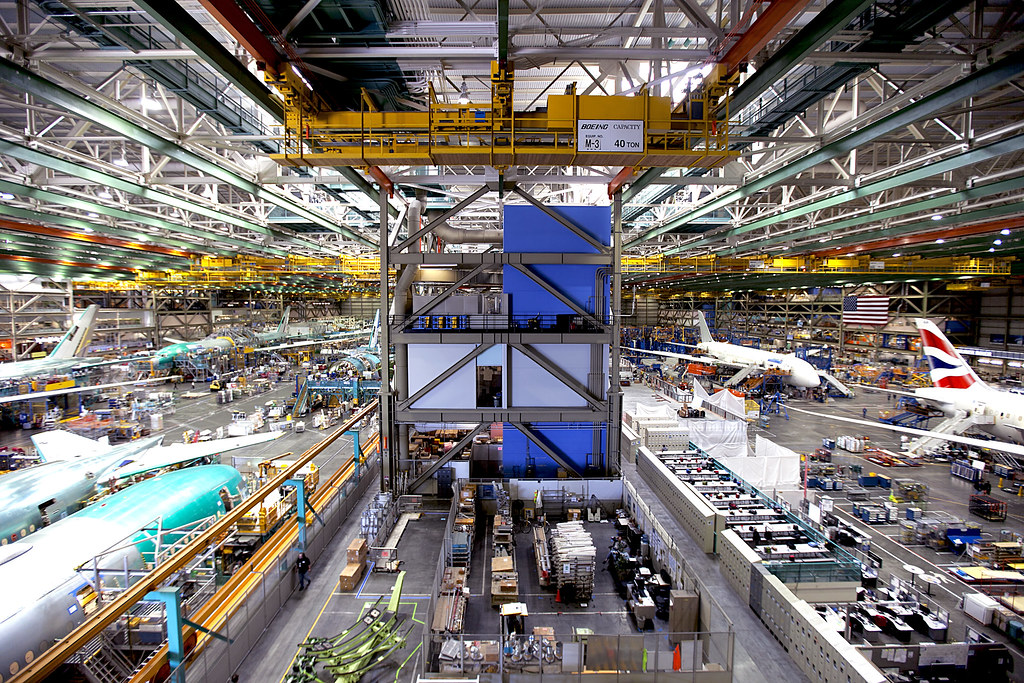 At Boeing's Everett factory near Seattle