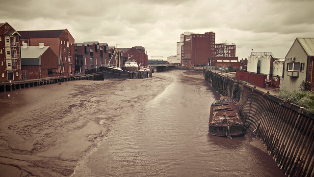 The River Hull is always brown